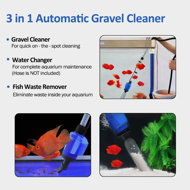 Aquarium Gravel Cleaner Automatic Water Changer Sludge Extractor Sand Washer Filter Pump for Fish Tank  2