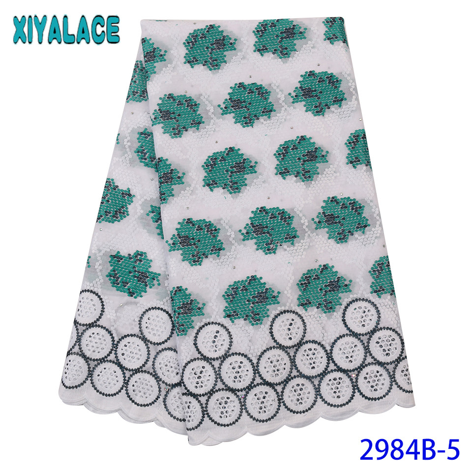 NEW Swiss Voile Lace In Switzerland Nigerian Lace Material 2019 French Cotton Laces For Women Dresses KS2984B-5