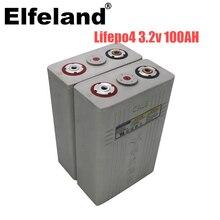 4Pcs 3,2 v 100ah Lifepo4 batterie 12v100AH Lithium-eisen phosphat zelle batterien NEUE CALB ca100 Kunststoff für solar RV pack zu 24V