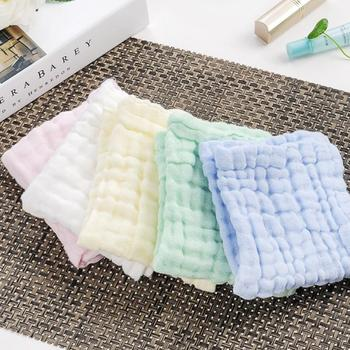Newborn Baby Handkerchief Square Baby Face Hand Bathing Towel Muslin Cotton Infant Face Towel Wipe Cloth Baby Bath Towel Toalla image