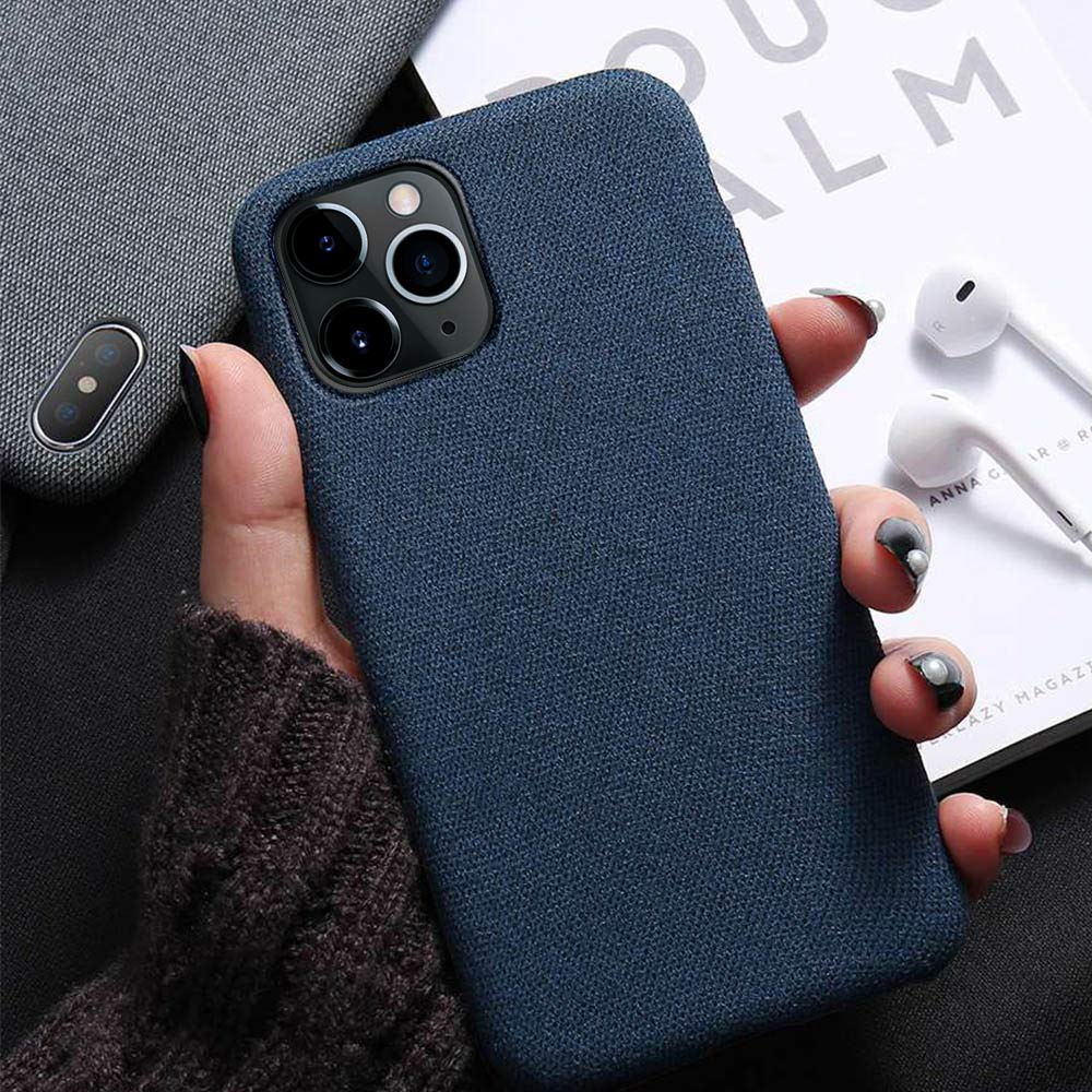 Luxury Cloth Texture Phone Case For iPhone X Soft TPU Cover For iPhone XR XS Max 6 6s 7 8 Plus Mobile Phone Accessories Funda