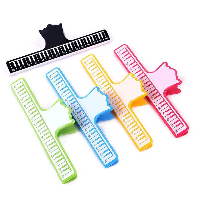 Music Hobby Piano Note Clip Keyboard Printed Smooth Grooves Plastic Music Book Page Holder Clamp Musical Tool