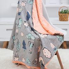 Baby Blanket Quilt Baby-Carriage 100%Cotton Soft for Stroller Covers Beanie Peas Breathable