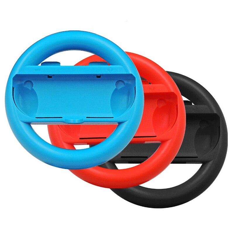 1 para dla przełącznik do nintendo uchwyt kierownicy uchwyt na stojak na pole karne z lewego prawe koło radość gry con dla przełącznik do nintendo NS NX kontroler