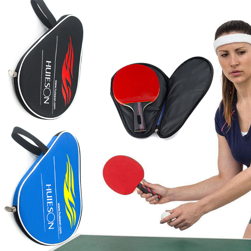 Ping Pong Ball Bag 30*20.5cm Racquet Sport Gourd Shape Paddle Bat Black Blue Oxford Pouch Table Tennis Racket Case Multipurpose