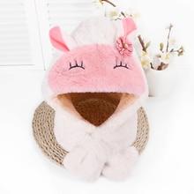 Rabbit Ear Warm Baby Winter Hat For Kids Protect  Beanies Double Side Bonnet Hats Cute Caps 2019 Hot Sale