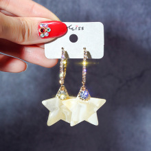 korean style fashion drop earrings for women  star asymmetrical elegant temperament brincos