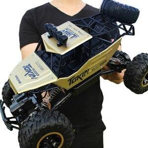 Image 4 - Voiture télécommandée 4 WD télécommande 2.4G, voitures télécommandées, jouets pour garçons, Buggy, camions tout terrain pour enfants, véhicule modèle, 37 CM 1:12
