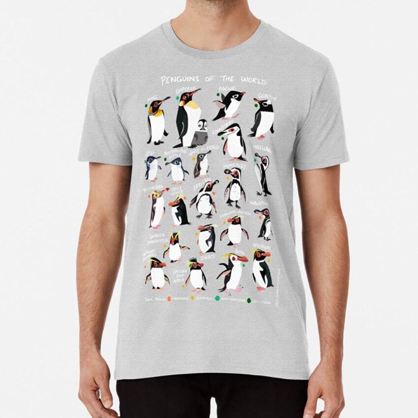 Penguins Of The World T Shirt Penguin Birds Antarctica Polar Climate Change Global Warming Species Animals Wildlife Bordwatching