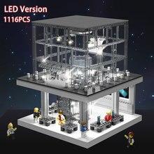 Juego de bloques de construcción de Apple Store con luz LED para niños, juguete de construcción con luz LED, compatible con modelos clásicos de teléfono, regalo de Navidad para niños
