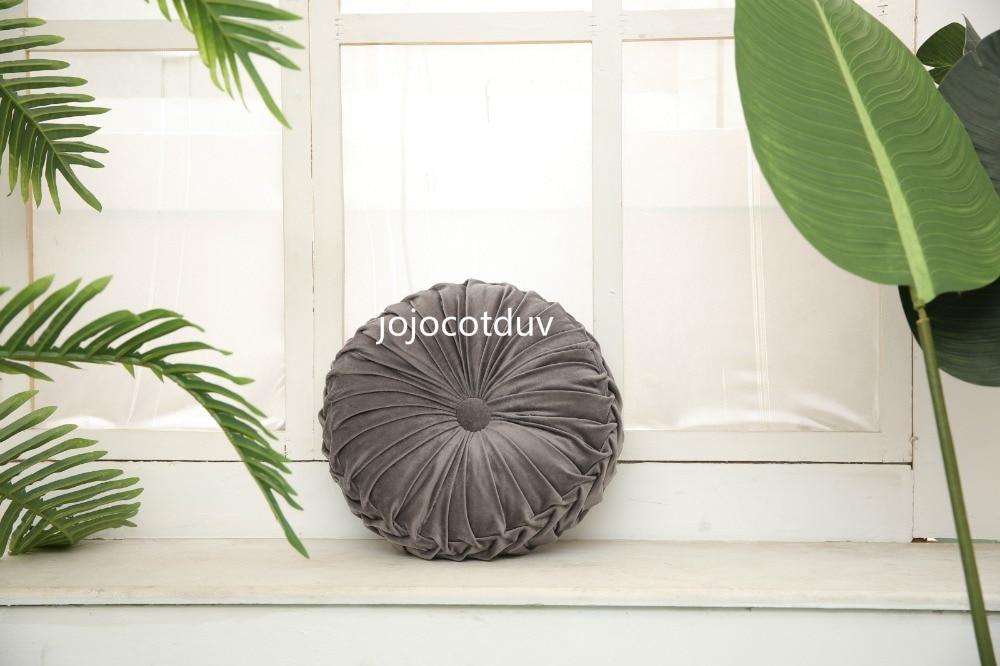 H69f33b555ef84352bc965262d8833207p 35*35x11cm European style round Seat cushion/Back cushion or as home decor pillow sofa pillow velvet fabric