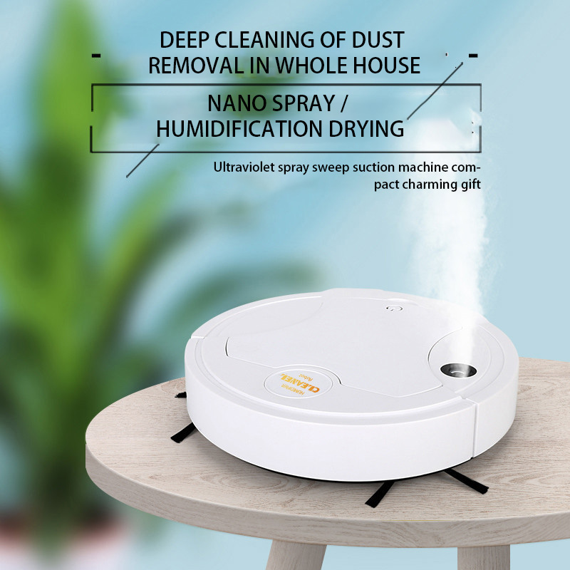 Robot Vacuum Cleaner Mopping Vacuuming spray 5 in 1 Smart Sweeping Electric Robot Rechargeable Household Appliances