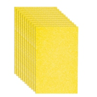 Sponge 12 Pcs Sponge Multi  Use Dishwashing Sponge for Kitchen Dish Bowl Pot Car Cleaning Sponges  Yellow|Cleaning Brushes| |  -