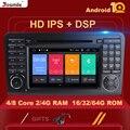 DSP IPS 2 din Android 10 автомобильный dvd-плеер для BENZ ML 320/ML 350/W164(2005-2012) GL GPS Радио стальное колесо управления камерой RDS DAB +