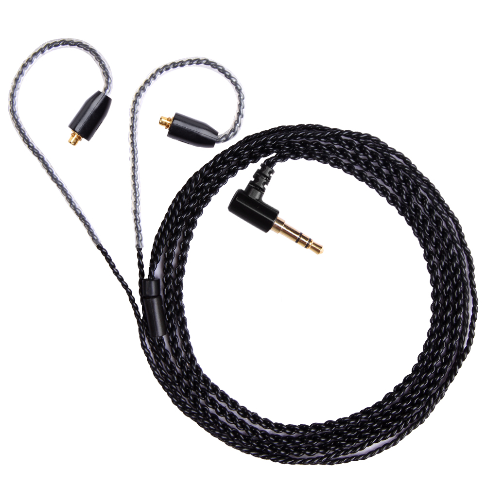 FDBRO 3.5mm Upgrade OFC Silver Plating Wire Earphone Wire 0.78mm 2Pin Cable MMCX IE80 Headphone Cable IM A2DC Headset Wire