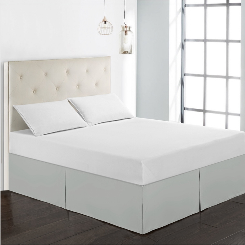 Hotel Luxury Bed Skirt With Bed Surface Collection-15 Inch Tailored Drop Twin,Full,Queen,King