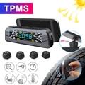 TPMS Солнечная энергия TPMS Автомобильная сигнализация давления в шинах монитор автоматическая система безопасности давление в шинах Предупр...
