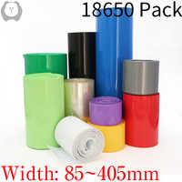 Paquete de Tubo termorretráctil de PVC, película de aislamiento de 55-400mm, envoltura de funda de Cable de litio, ancho 85mm ~ 18650mm, 258