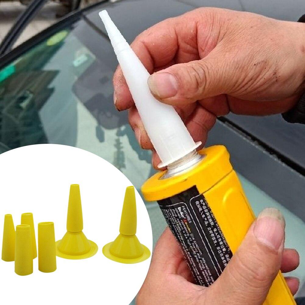 8pcs/set Glass Cement Sealant Tool Glue Nozzle Interior Grouting Finishing Straight Push Type For Caulking Multifunction Home
