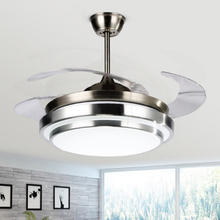 Modern Simple Ceiling Fan Light ABS fan blade acrylic LED 110v / 220v 36/42 inches for remote control of living room lighting