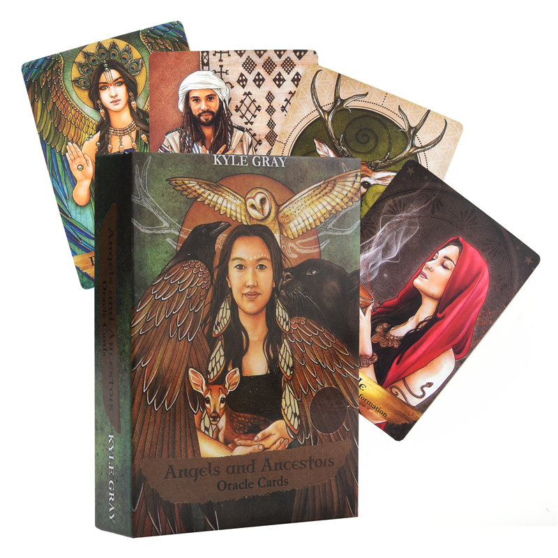 Angels And Ancestors Oracle Cards A 55-Card Deck And Divination Sealed New Cards Game Board Party Guidance Oracle Tarot Cards