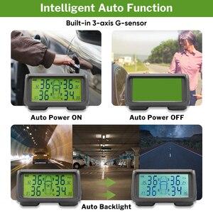 Image 5 - Car TPMS Sensor Tyre Pressure Monitoring System Solar Monitor Tire Wireless Sensors TMPS Wheels Security Alarm External Internal