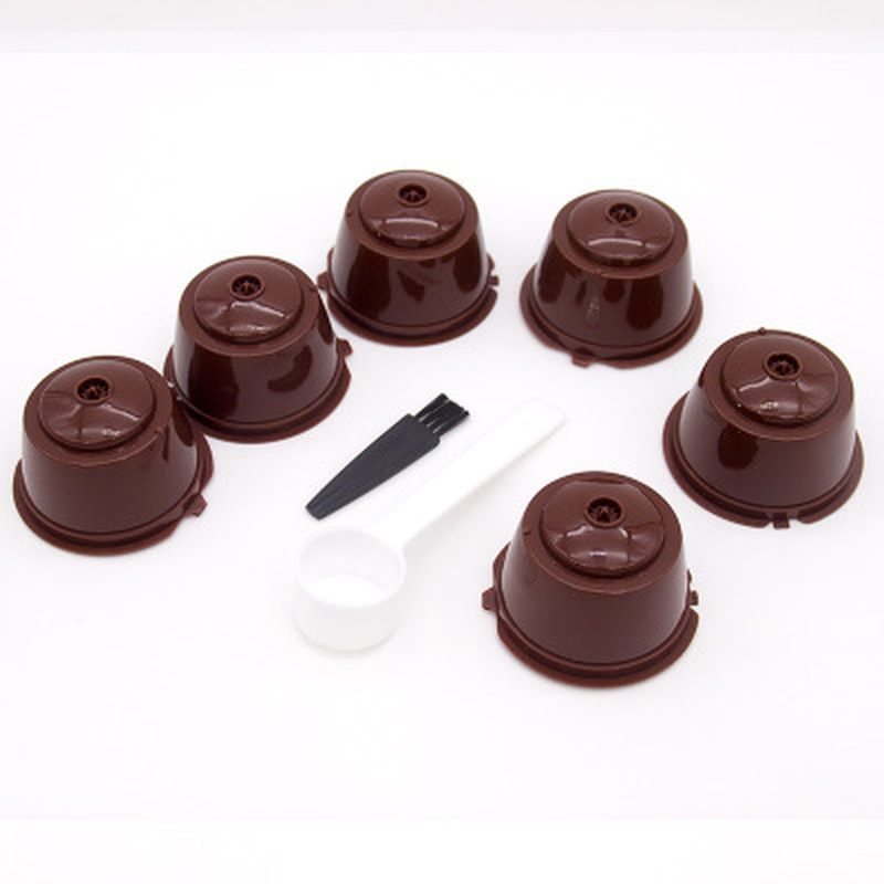 Reusable Coffee Capsule for Dolce Gusto Refillable Filter Cup Set for Dolce Gusto