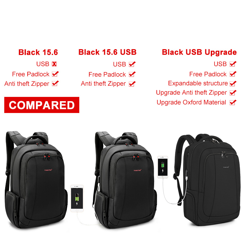 Image 5 - Tigernu Anti Theft Nylon 27L Men 15.6 inch Laptop Backpacks School Fashion Travel Male Mochilas Feminina Casual Women Schoolbag-in Backpacks from Luggage & Bags