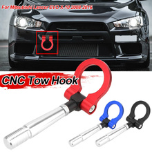 Trailer Towing Bar Auto Rear Front Trailer Vehicle Towing Racing Foldable Tow Hook For Mitsubishi Lancer EVO X 10 2008 2016