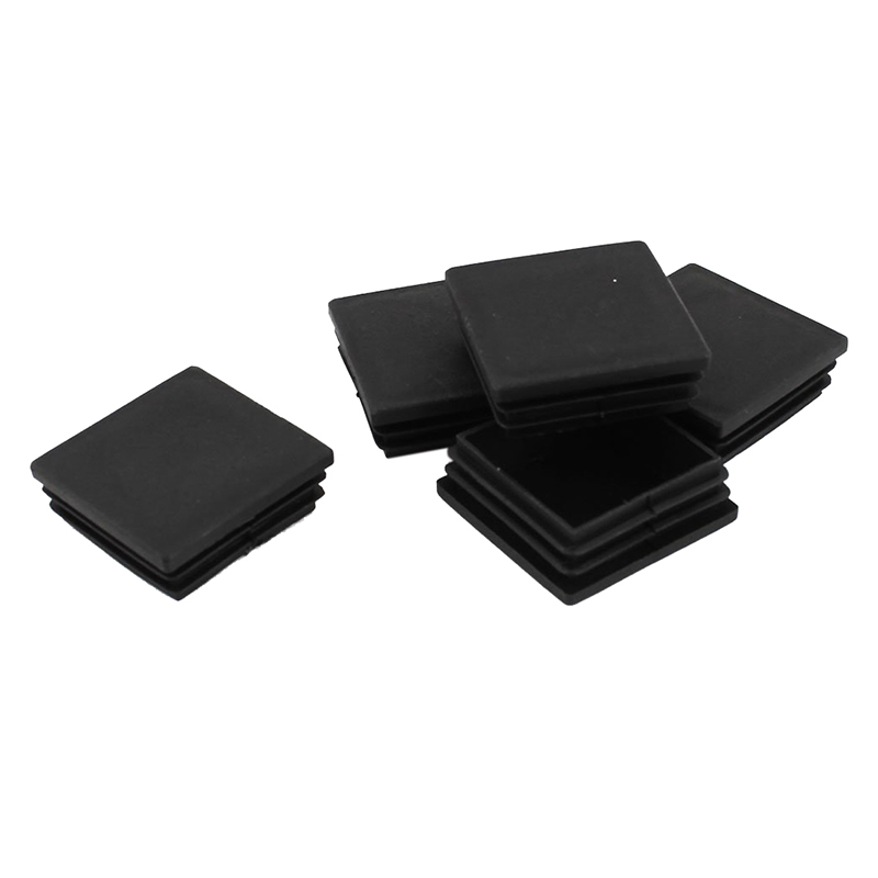 Hot Sale Plastic Square Tubing Inserts End Blanking Cover Caps 50mmx50mm 5 Pcs