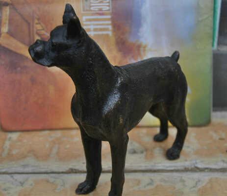 Bir 007002 7 chiny grafika sztuka abstrakcyjna brąz zwierząt pies border collie rzeźba statua