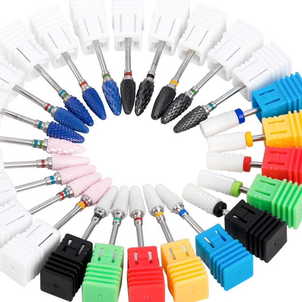 Milling Cutter untuk Manikur Keramik Mata Bor Memutar Burr Milling Cutter Bit Pedikur Alat Electric Kuku Bor Aksesoris