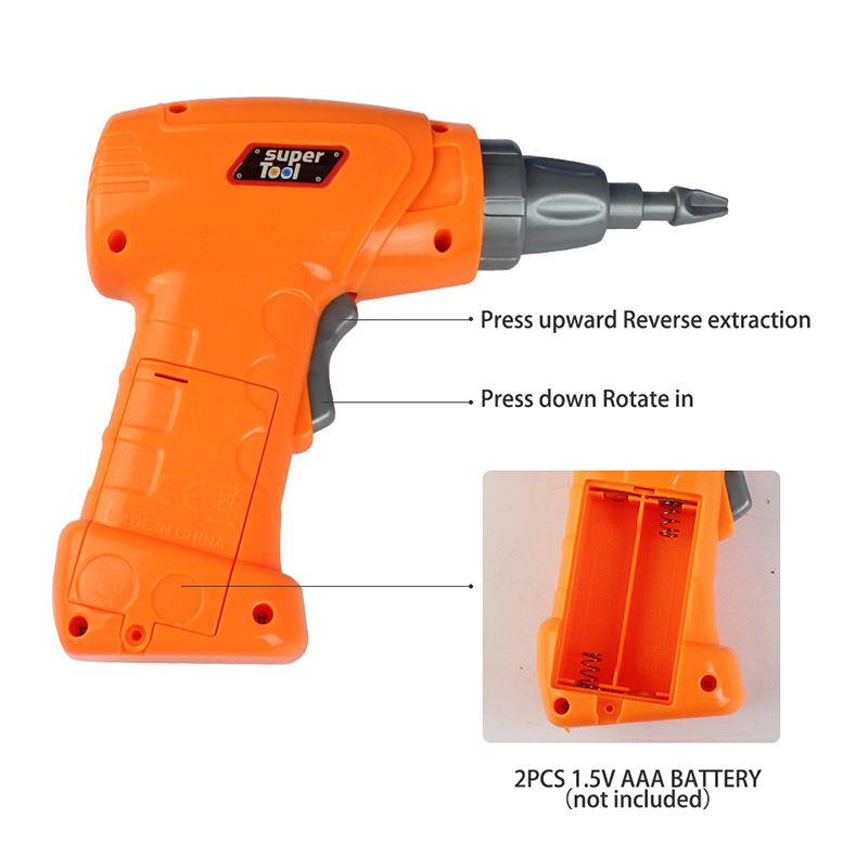Children Toys Gift Electric Drill Nut Match The Van Tool Electric Drill-Puzzle