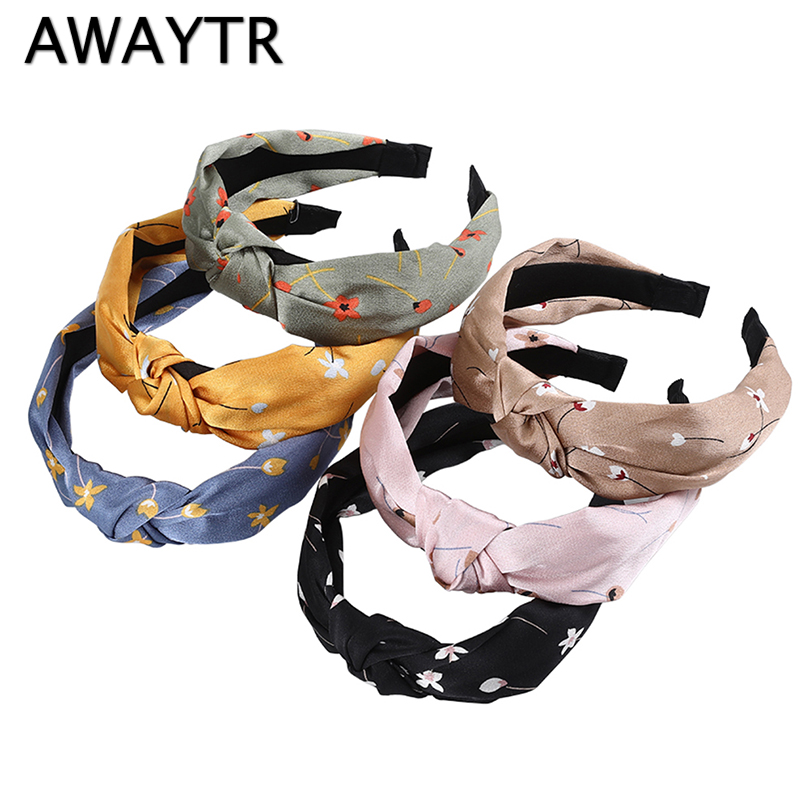 AWAYTR Print Fabric Headband For Women Leopard Velvet Hairband Fashion New Hair Loop Bezel Female Headwear Hair Accessories