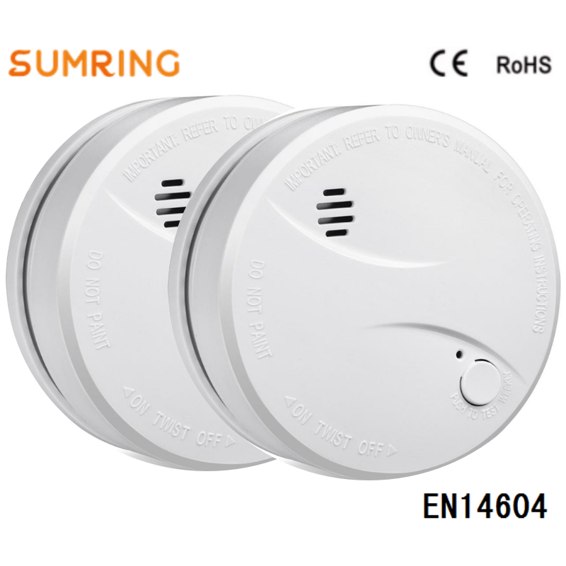 Smoke Detector EN14604 10 Year Lifespan Lithium Battery Operated Independent For Home