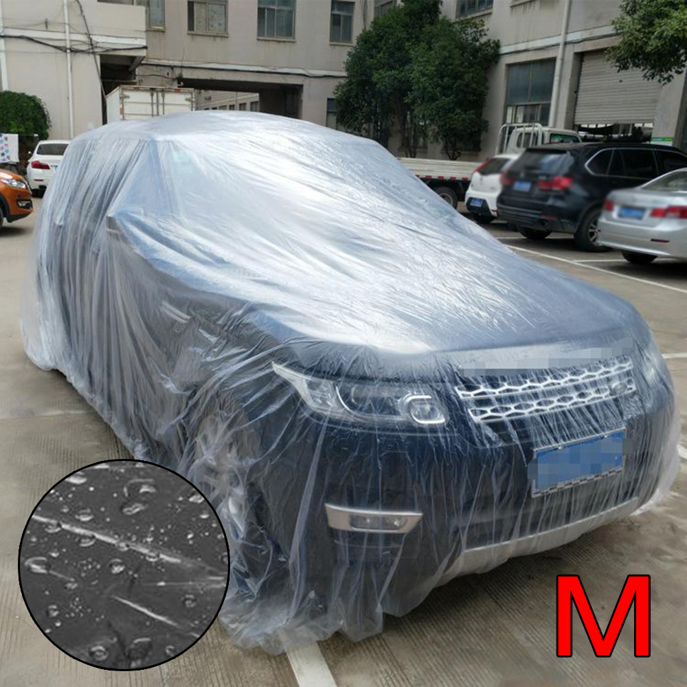 Car Cover Clear Plastic Seamless Waterproof Dustproof Disposable Universal Brand New And High Quality Car Cover