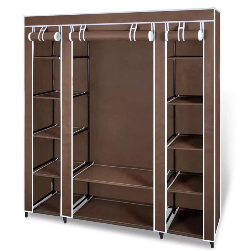 VidaXL Non-Woven Fabric Collapsible Closet Portable Cabinet Modern Simple Wardrobe Household Fabric Folding Cloth Closet Storage