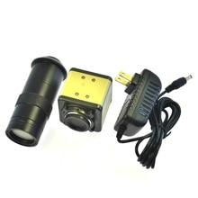 ความละเอียดสูง SONY 800 สายทีวี BNC กล้องจุลทรรศน์อุตสาหกรรมกล้อง + 100 เลนส์