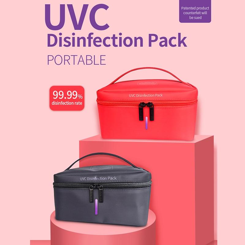 New Portable USB Charge Disinfect Bag UV Sterilizer Clothes Sterilization Bag Phone Mask Sterilizer Box Disinfection Lamp