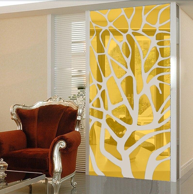 Fond TV stickers muraux salon décoré autocollants décor de salle de mariage géométrique décoratif miroir stickers muraux
