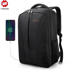 Image 1 - Tigernu Water Repellent Nylon Men Anti theft 15.6inch Laptop Backpacks Business USB Charger Computer Schoolbag Backpack for Boys
