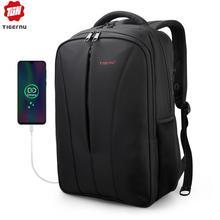 Tigernu mochila antirrobo de nailon repelente al agua para hombre, morral para ordenador portátil de 15,6 pulgadas, Cargador USB, mochila escolar para ordenador