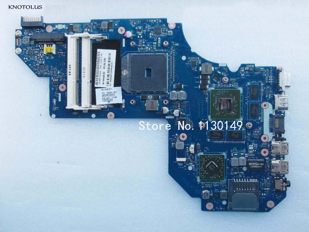 High quality 725064-001 725064-501 For HP for envy M6 M6-1000 Laptop Motherboard Mainboard QCL51 <font><b>LA</b></font>-<font><b>8712P</b></font> tested well image