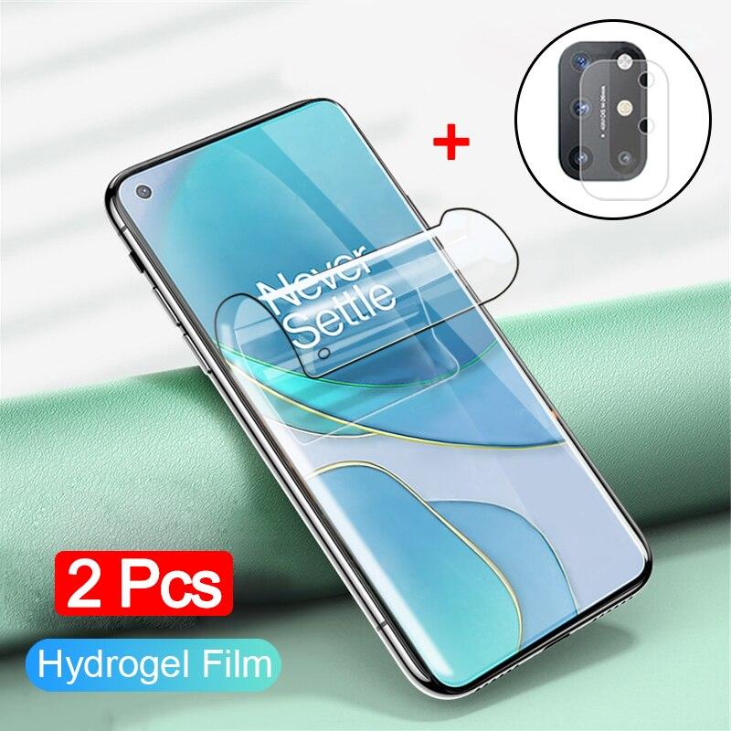 2 шт гидрогелевая пленка + стекло для камеры one plus nord hydrogel film oneplus8t/7t pro 8pro ванплас 7про ванплас 8 про защитное стекло на ван плас 8т про ванплас 8т...
