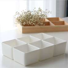 Succulent Plant Fleshy Flower Decorative Square Pot Plastic Box Container Garden Supplies Planters  5.5x4.2cm