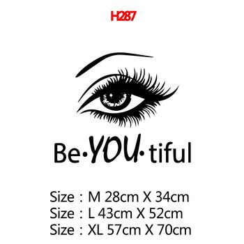 Beauty Salon Eye Lashes Live Love Wall Sticker Home Decoration Eyes Quotes Wallpaper Waterproof Wall Decoration Murals Decal 23