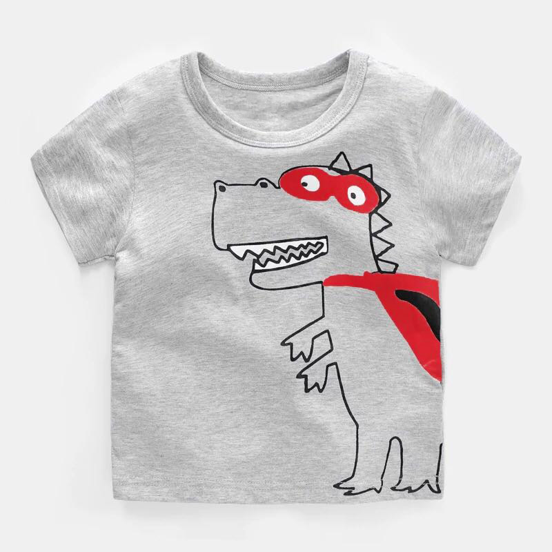 Boy Clothing T-Shirt Kids Toddler Child Short Sleeve Cotton Cartoon Tops Baby Tee