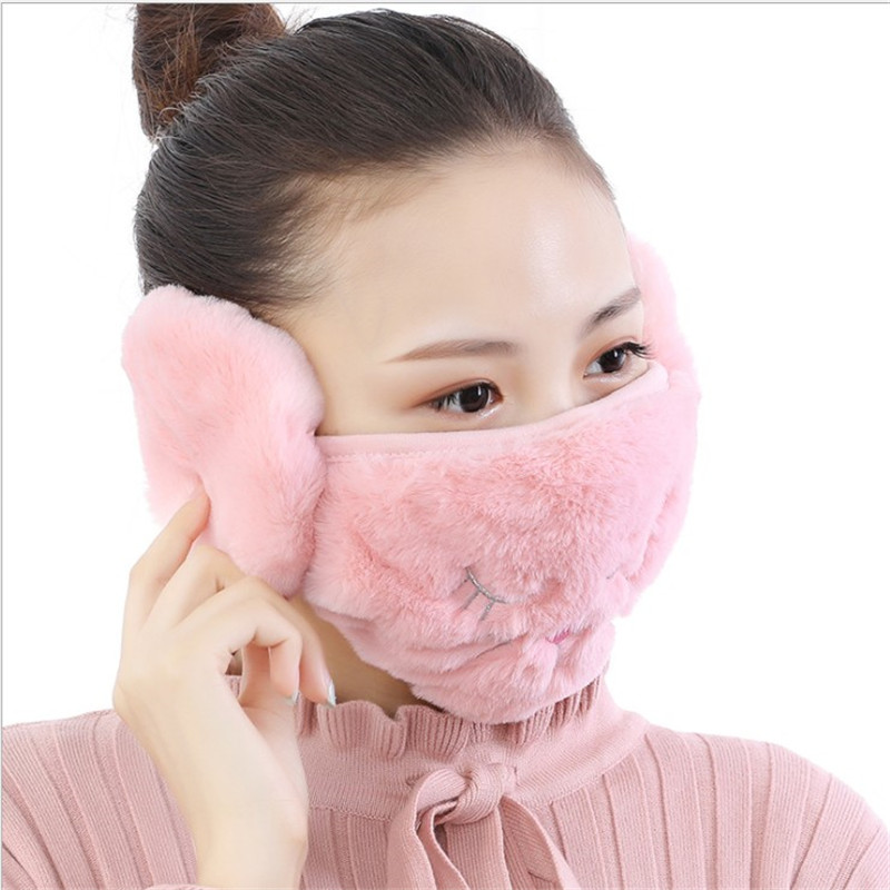 Winter Dustproof Women Mask Ear Protection And Keep Warm Two-in-one Masks Mouth Face Mask 2020 Girl Women Mouth Masks