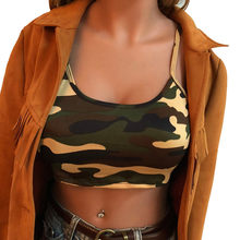Women New Summer Short Tank Tops Camouflage Sleeveless Crop Top Bustier Bra Vest Sexy Tanks Top Blouse T Shirt For Women Tee(China)