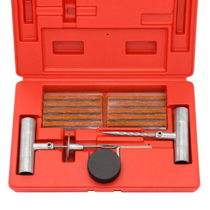 36 шт. набор инструментов для ремонта автомобилей комплект для ремонта автомобильных шин T type запасные штифты чехол в виде протектора шины вакуумная коробка с инструментами бескамерный прокол шин Ремонтный комплект